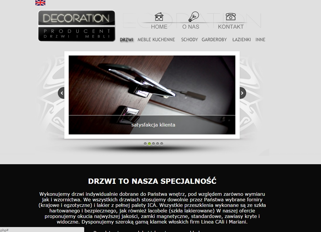 Strona internetowa – Decoration Studio