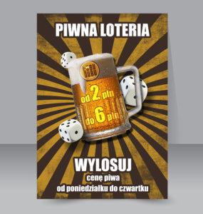 plakat wizualizacja piwna loteria