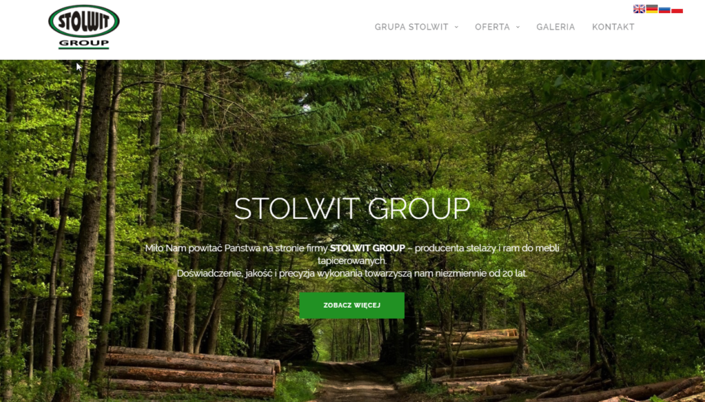 Strona internetowa – STOLWIT GROUP