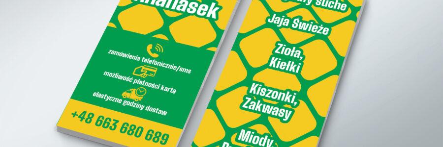 ANANASEK FITBUS – Ulotki i oklejanie witryny