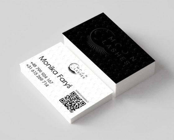 Moon Lashes – logo i wizytówka